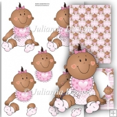 Ethnic Baby Girl Decoupage Set