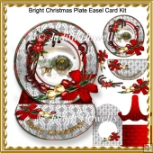 Bright Christmas Plate Easel Card Kit