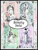 Simply Jane Regency Collage Card Toppers Collection