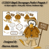 CCDS19 PERFECT PENGUIN 3 SIMPLI DECOUPAGE