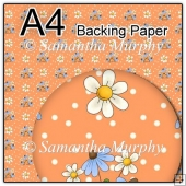 ref1_bp63 - Orange & Blue Daisy Flowers