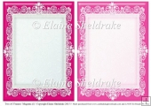 2 x A5 Magenta (1) Lace Frames for Card Making & Scrapbooking