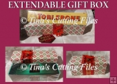Expandable Rectangle Gift Box for chocolate, christmas gifts et