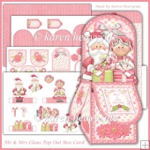 Mr And Mrs Claus Pop Out Box Card