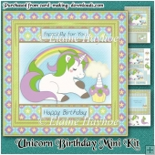 Unicorn Birthday Mini Kit