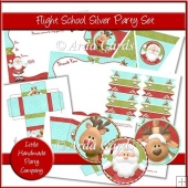 Flight School Silver Party Set