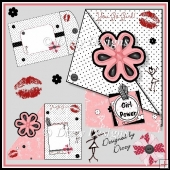 Girl Power - Corner Fold Back Card