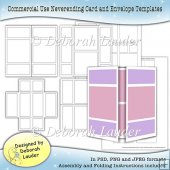 Neverending Card and Envelope Templates Commercial Use