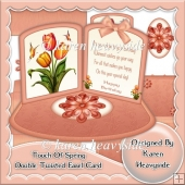 Touch Of Spring Double Twisted Easel Card