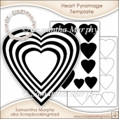 Heart Pyramage Template Commercial Use Ok