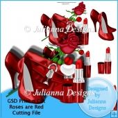 GSD Print n Cut Roses are Red Decoupage Cutting File