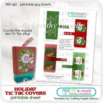 Holiday Tic Tac Covers