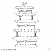 Wedding Cake 2 Clipart - Digital Stamp