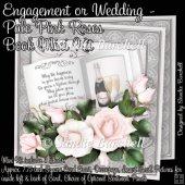 Engagement or Wedding - Pale Pink Roses Book Mini Kit