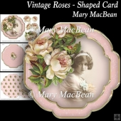 Vintage Roses - Shaped Card