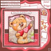 LOVE YOU BEAR 7.5 Decoupage & Insert Mini Kit Various Occasions