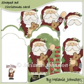 Merry Christmas Santa Tag Card Set 1