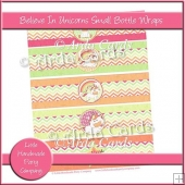 Believe In Unicorns Small Bottle Wraps