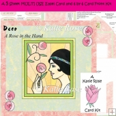 Easel and Super Square Deco A Rose in the Hand 5 Sheet Kit