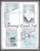 Valentine Slant Pocket Library Card Set of 2