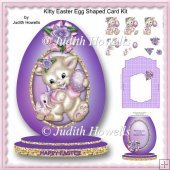 Kitty Easter Egg Shaped Card Kit