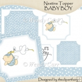 Ready to Print Nestins Topper - Baby Boy(Retiring in July)