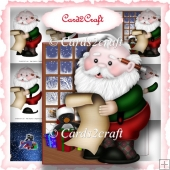 Santa shaped Christmas card set