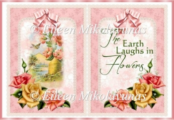 The Earth Laughs in Flowers Card Insert