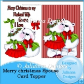 Merry Christmas Spouse/ Girlfriend/ Partner Card Front/ Topper