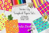 Sherbet Dip CU Scrapbook Papers Set 1