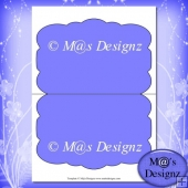 Shaped Card Template 5