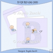 B FOR BOY 6X6 CARD