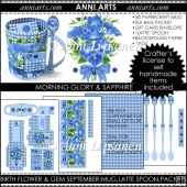 Birth Flowers and Gems September: 3D Mug, Spoons, Packets, Paper