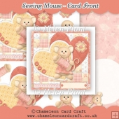 Sewing Mouse - Card Front & Decoupage