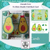 Avocado Love No Holes Double Fold Back Card Kit