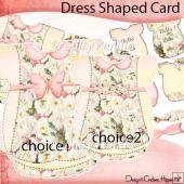 Smell the Rose Dress Shape Card