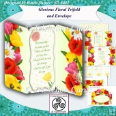 Glorious Floral Trifold Card and Envelope