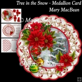 Tree in the Snow - Medallion Card