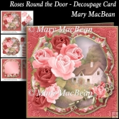 Roses Round the Door - Decoupage card
