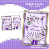 Butterfly Flowers Card Front