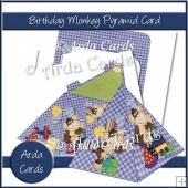 Birthday Monkey Pyramid Card