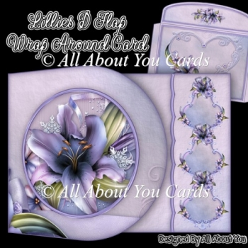 Lillies D Flap Wrap Around Card