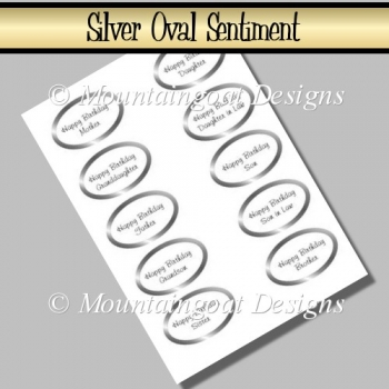 Silver Oval Sentiments