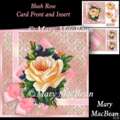 Blush Rose Card Front and Insert