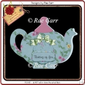 122 Teapot Shaped Card *HAND & MACHINE Cut Files*