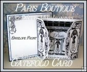 Flea Market Chic PARIS BOUTIQUE Gatefold Card Kit
