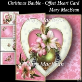 Christmas Bauble - Offset Heart Card