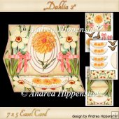 Dahlia Easel Card orange 2