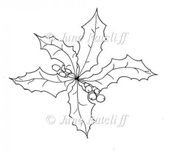Home :: Digital Stamps / Line Art :: Christmas Holly