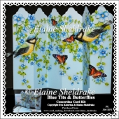 Blue Tits & Butterflies - Over The Edge Concertina Card Kit